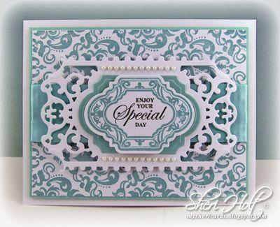 Sheri Holt Damask Wallpaper Background Stamp