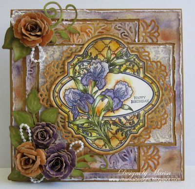 Irises Vintage Labels Four