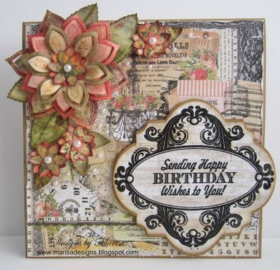 Marisa Birthday Vintage Labels Four