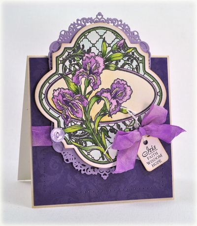 Debbie Olson Irises Vintage Labels Four