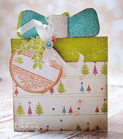 Michele Kovack Vintage Christmas Ornament present card
