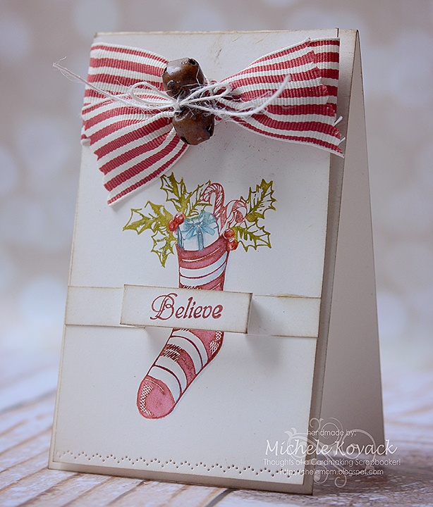 Believe Christmas Stocking Card Michele Kovack
