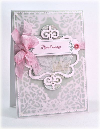 Debbie Olson Looking for a Sign with filigree Corners