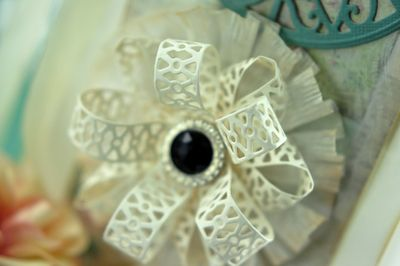 Close Up of Lacey Tiers Bow