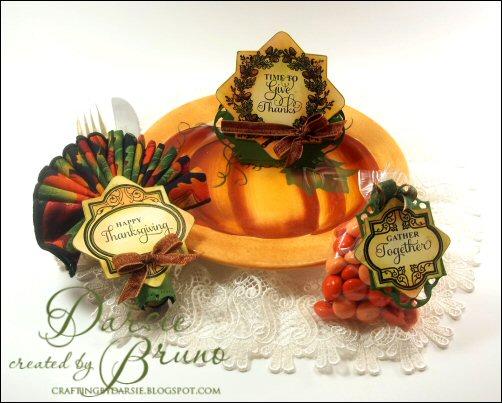 Autumn Vintage Labels Three Tablesetting Darsie Bruno