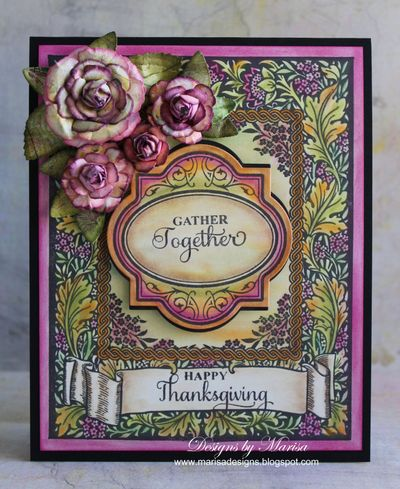 Floral Harvest Background Stamp Marisa Job