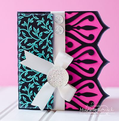Filigree Leaves Background Stamp Michele Kovack