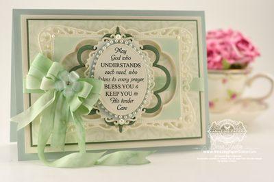 Becca - Leafy Background Stamp