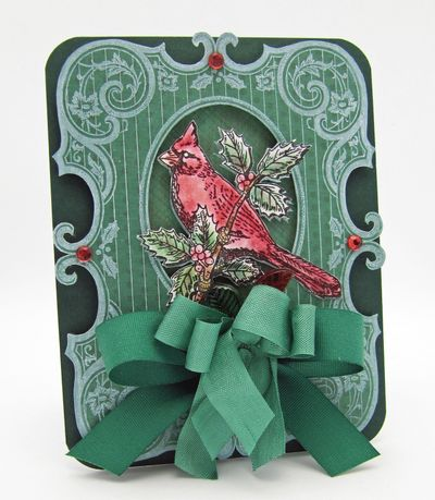 Barb Schram Christmas Cardinal Background Stamp
