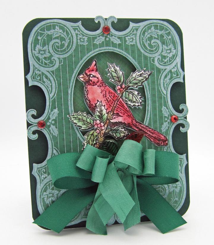 Barb Schram Christmas Cardinal Background Stamp