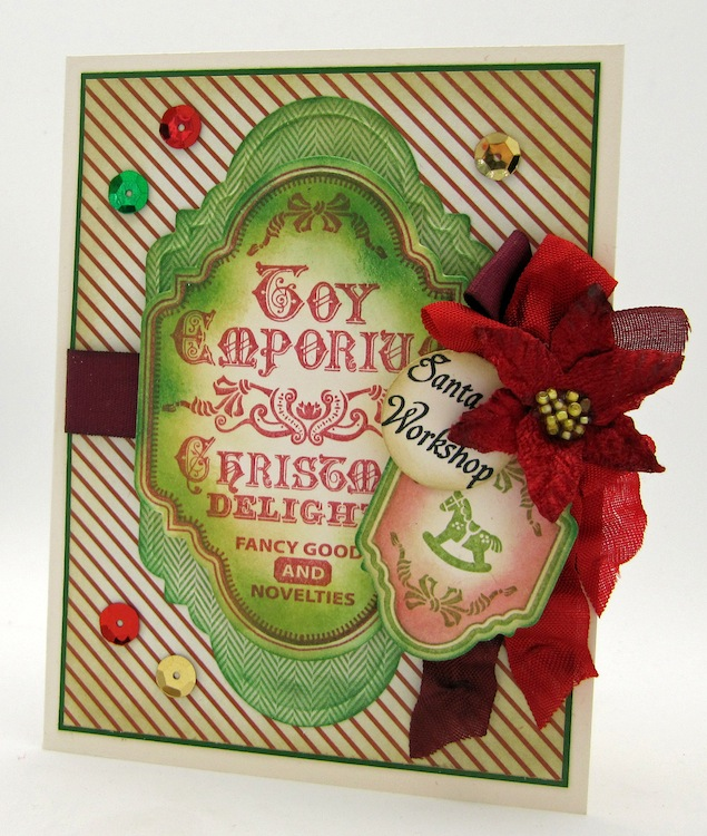 Barb Schram Christmas Vintage Labels Two
