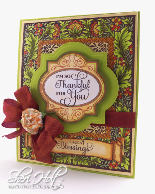 Floral Harvest Background Stamp Sheri Holt