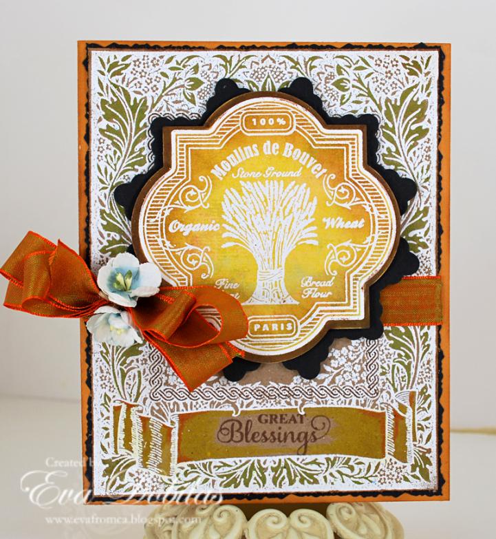 Floral Harvest Background Stamp Eva Dobilas