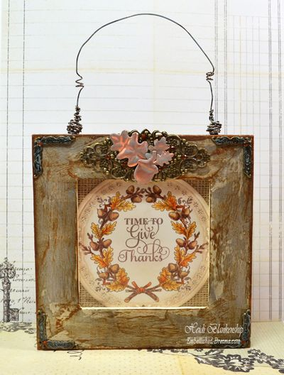 Autumn Vintage Labels Three Frame Heidi Blankenship