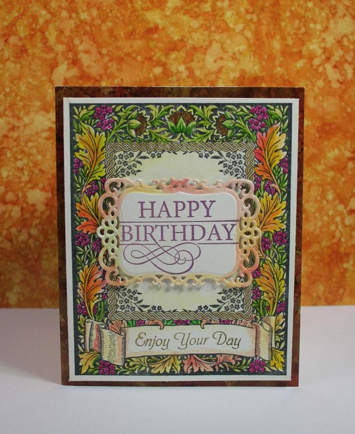 Floral Harverst Background Stamp Kellie Fortin