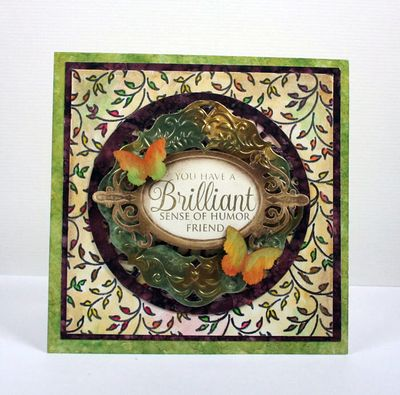 Filigree Leaves Background Stamp Kellie Fortin