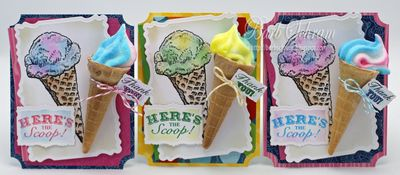 The Scoop Vintage Labels Four Set of 3 Barb Schram