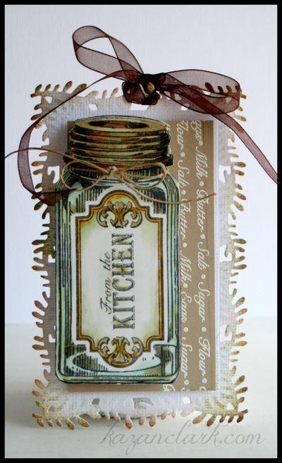 Baking Antique Tags One Kazan Clark