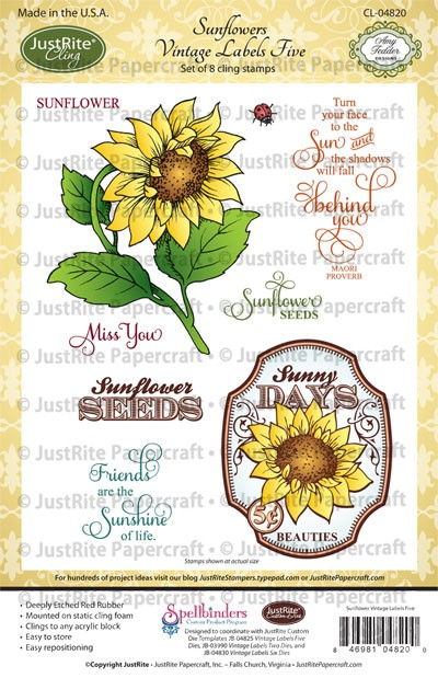 CL-04820_Sunflowers_Vintage_Labels_Five_LG
