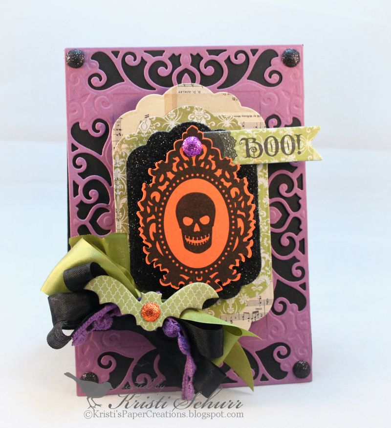 JustRite  Papercraft Boo-tiful Cameos Clear Stamps