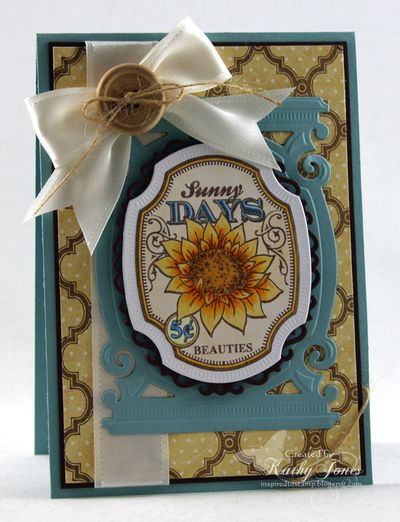 Kathy Jones Sunflowers Vintage Labels Five