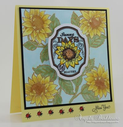 Angela Barkhouse Sunflowers Vintage Labels Five