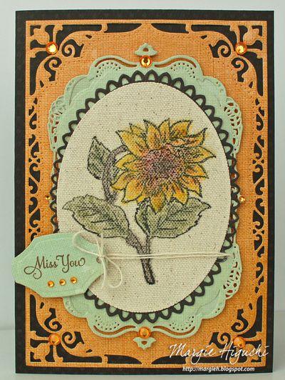 Sunflower Vintage Labels Five Margie Higuchi