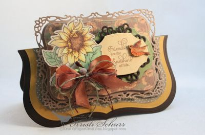 JustRite Papercraft Sunflowers Vintage Labels Five Cling Stamps Kristi Schurr