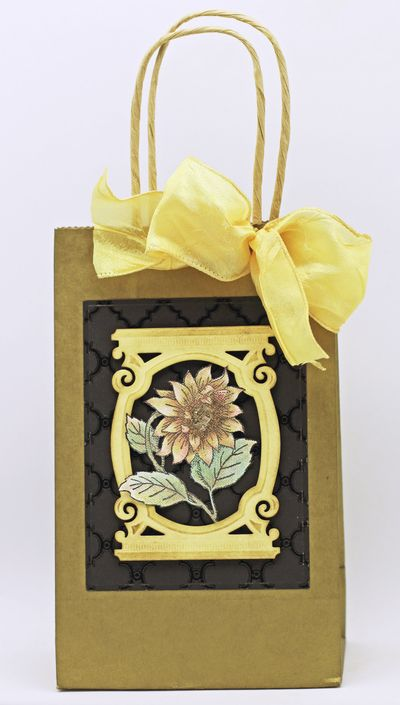 Barb Schram Sunflower Vintage Labels Five gift bag