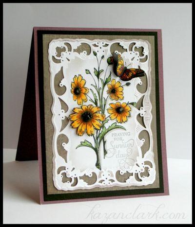 Encouragement daisy card Kazan Clark