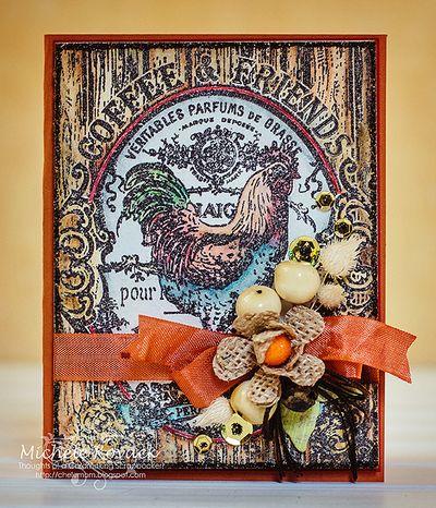 Michele Kovacak Coffee & Friends Background Stamp