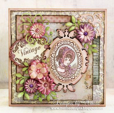 Fashion Vintage Labels Six Cling Stamps Marisa Job