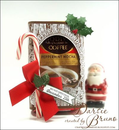 Coffee and Friends Cling Background Stamp Darsie Bruno