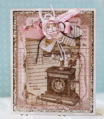 Remember When Cling Background Stamp Michele Kovack