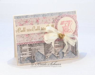 Cal lMe SoonClear Stamps Kristi Schurr