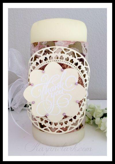 Grand Thank You Wedding Candle Kazan Clark