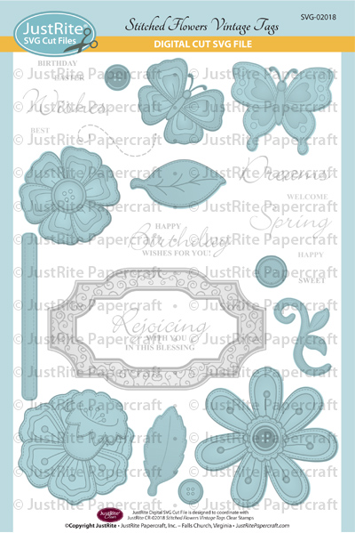 JR SVG-02018 Stitched Flowers Vintage Tags PACKAGE web