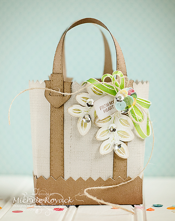 Michele Kovack Applique Flowers Tote