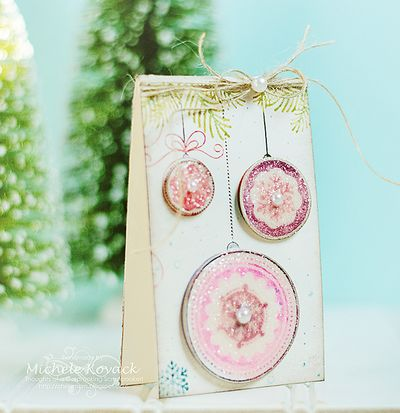 Michele Kovack Ornament Cling Background Stamp