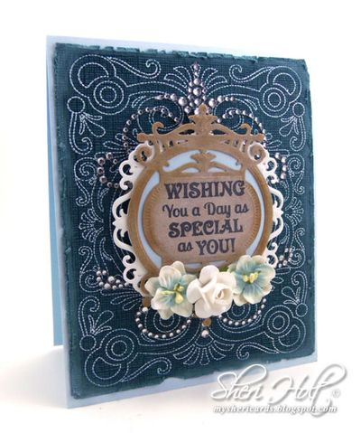Sheri Holt Stitched Frame Background stamp