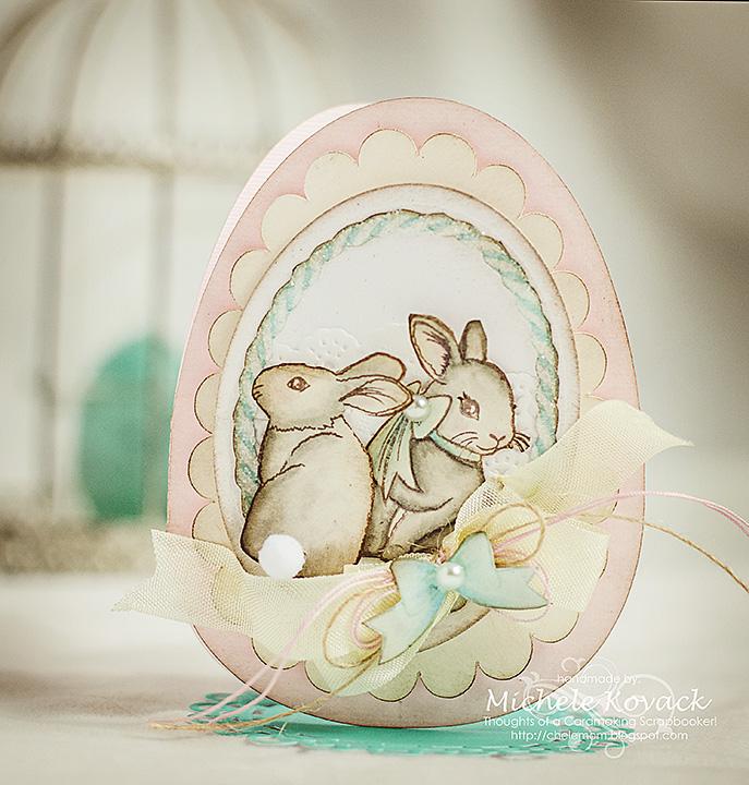 Michele Kovack Welcome Spring Easter Egg Card
