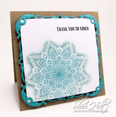 Sheri Holt Doilies One Cling  Stamp