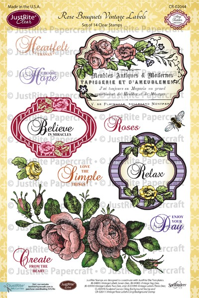 CR-02044_Rose_Bouquets_Vintage_Labels_Clear_Stamps_LG