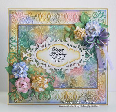 Marisa Job Floral Stitched Background