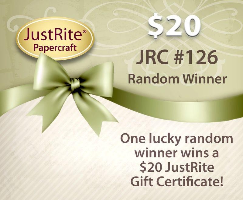 JRC #126 Gift Certificate RANDOM Announcement