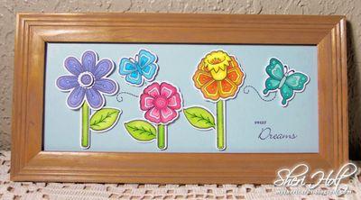 Sheri Holt Stitched Flower Frame