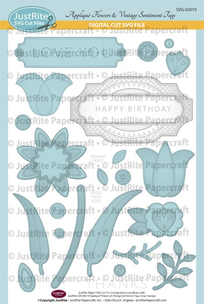SVG-02019_Appliqué_Flowers_& _Vintage_Sentiment_Tags