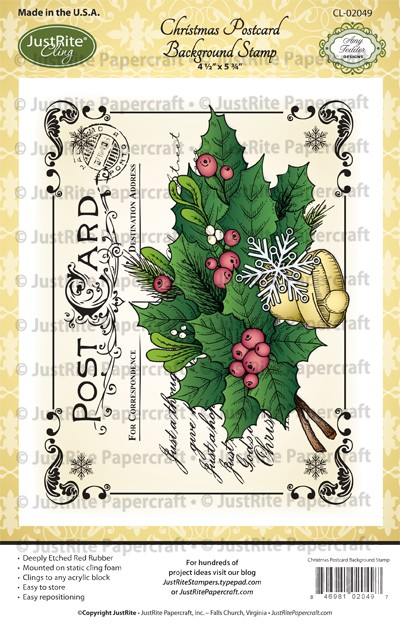 CL-02049_Christmas_Postcard_Cling_Background_Stamp_LG
