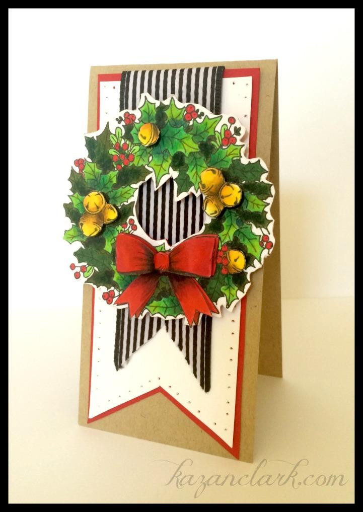 ChristmasWreathCardKazanClark