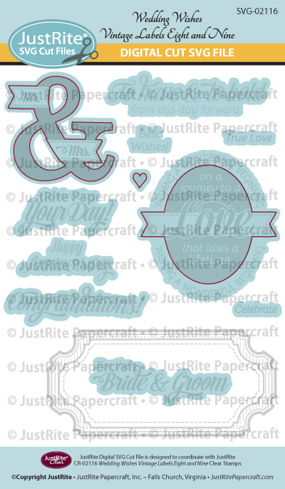 SVG-02116 Wedding Wishes Vintage Labels Eight and Nine WEB